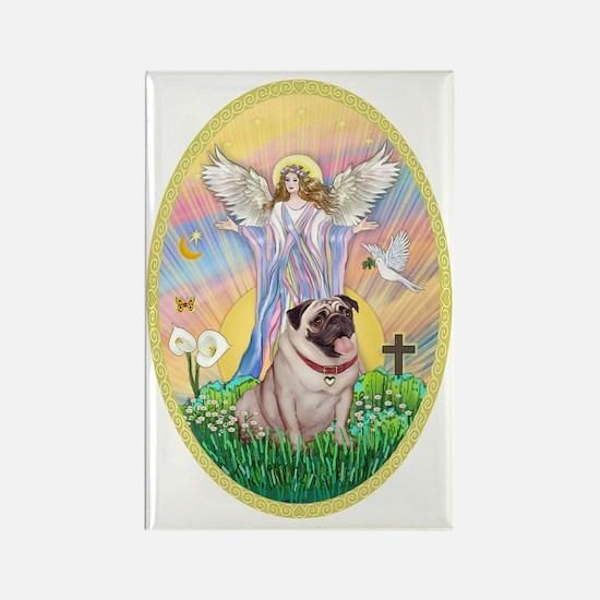 OvOrn--Blessings-Pug #2 Rectangle Magnet