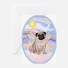 OvOrn-Clouds-Pug 17 Greeting Card