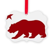 California Bear Red2 Ornament