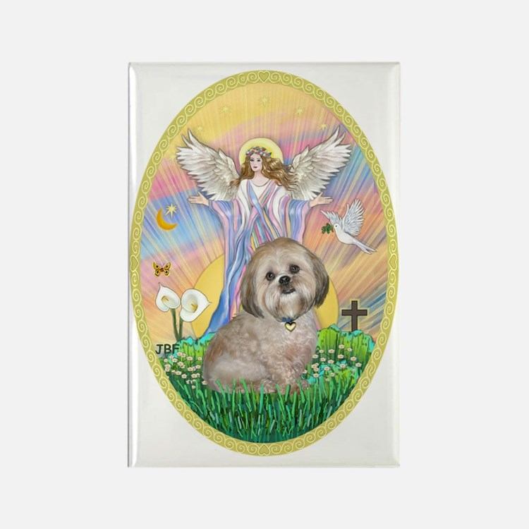 OvOrn-Blessings - Lhasa Apso 11 Rectangle Magnet