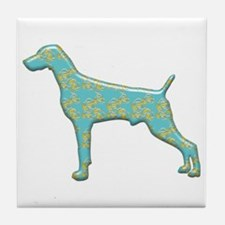 Paisley Weimaraner Tile Coaster