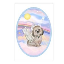 OvOrn-Clouds - Lhasa Apso Postcards (Package of 8)