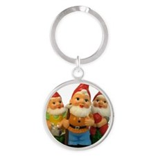 2-Gnome-Important Friends Round Keychain