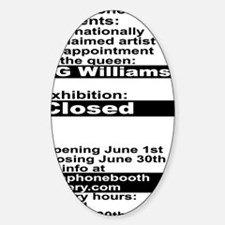 Closed At TelephoneBooth Gallery, K Decal