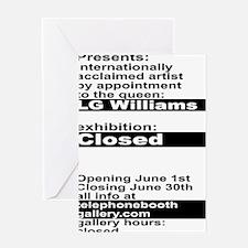Closed At TelephoneBooth Gallery, Ka Greeting Card