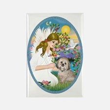 OvOrn-AngelLove-Lhasa Apso 11 Rectangle Magnet