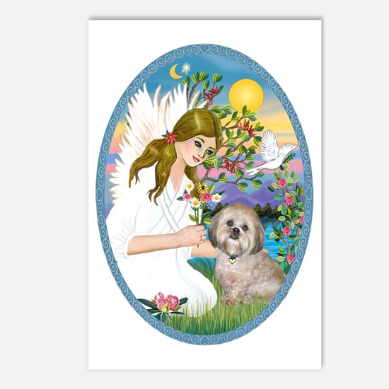 OvOrn-AngelLove-Lhasa Aps Postcards (Package of 8)