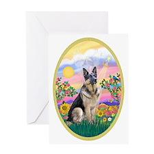 OvOrn-Guardian-German Shepherd Greeting Card