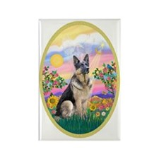 OvOrn-Guardian-German Shepherd Rectangle Magnet