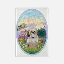 OvOrn-Cloud Angel - Shih Tzu (P) Rectangle Magnet