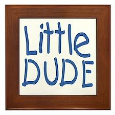 Little dude Framed Tile