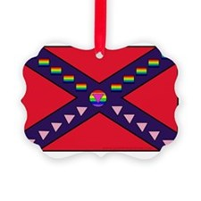 Confederate Fag LOGO ONLY Tshirt  Ornament