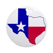 Texas map 3 Round Ornament