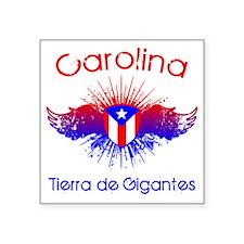 "Carolina W Square Sticker 3"" x 3"""