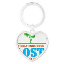Ends Once Stack Heart Keychain