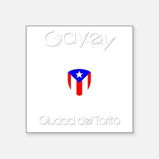 "Cayey B Square Sticker 3"" x 3"""