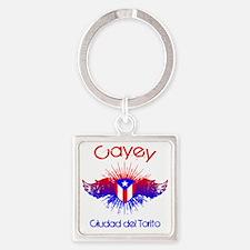 Cayey W Square Keychain