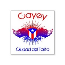 "Cayey W Square Sticker 3"" x 3"""