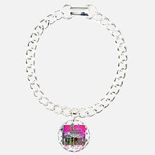 funky-pink-sign for blac Bracelet
