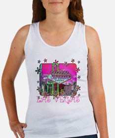 funky-pink-sign for black Women's Tank Top