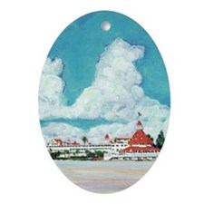 coronadobeach10x14 Oval Ornament
