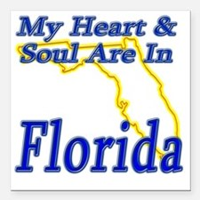 """My Heart  Soul Are In Fl Square Car Magnet 3"""" x 3"""""""