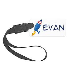 Evan Rocket Ship Luggage Tag