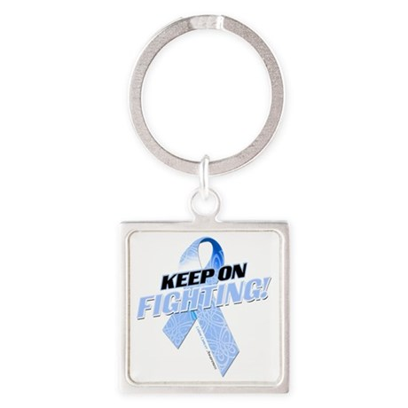 Keep on Fighting Colon Cancer Square Keychain