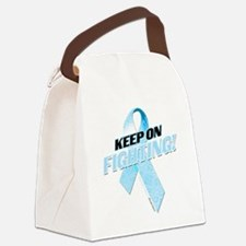Keep on Fighting Prostate Cancer Canvas Lunch Bag