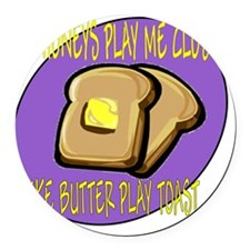 butter play toast Round Car Magnet