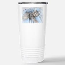 sleepy kitty calendar Stainless Steel Travel Mug