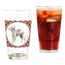 RDORN-bedlington-terrier-christmas Drinking Glass