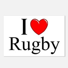 """I Love (Heart) Rugby"" Postcards (Package of 8)"