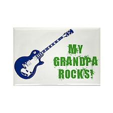 rockon_grandpa Rectangle Magnet