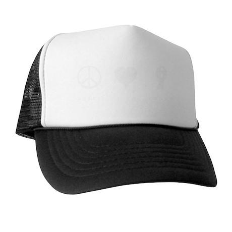 peac-love-dance-white Trucker Hat