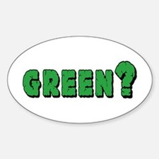 Green? Oval Decal
