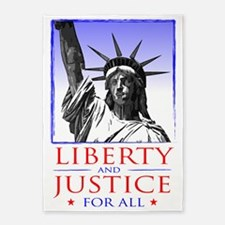 Liberty  Justice For All (for light 5'x7'Area Rug