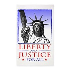 Liberty  Justice For All (for light 3'x5' Area Rug