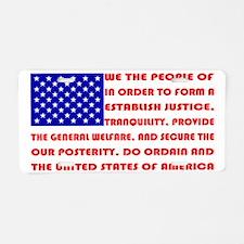 Preamble Flag Aluminum License Plate