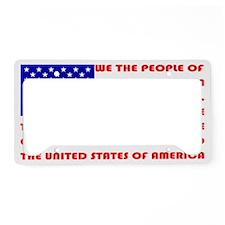 Preamble Flag License Plate Holder