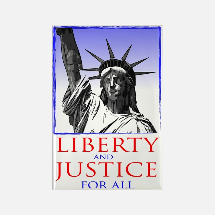 Statue of Liberty (for dark shirt Rectangle Magnet