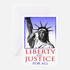 Statue of Liberty (for dark shirts) Greeting Card