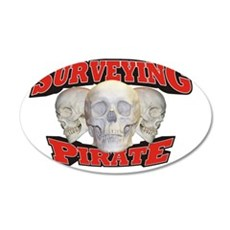 Pirate_Surveying_21x14 35x21 Oval Wall Decal