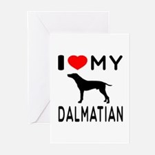 I Love My Dalmatian Greeting Cards (Pk of 10)