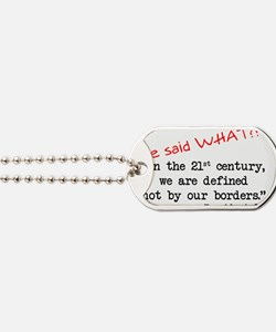 defined borders Dog Tags