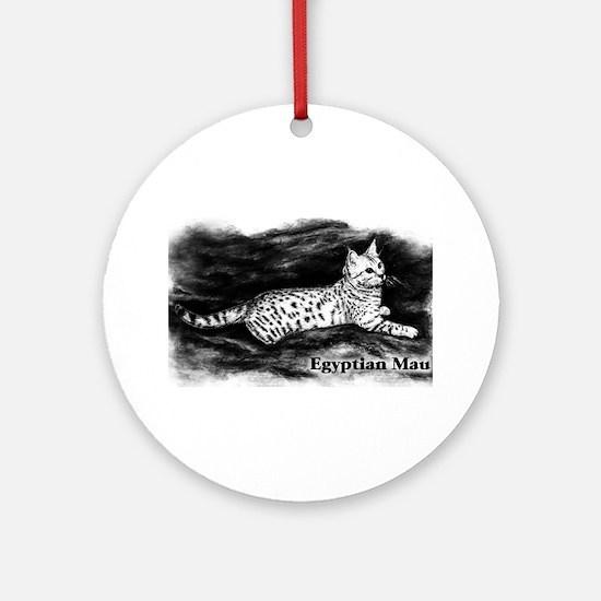 Egyptian Mau Ornament (Round)