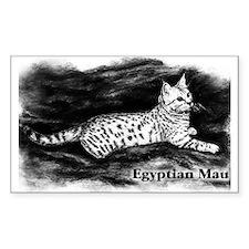 Egyptian Mau Rectangle Decal