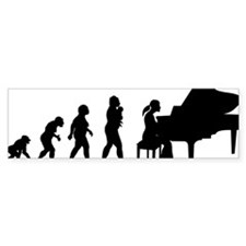 Pianist Bumper Sticker