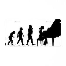 Pianist Aluminum License Plate