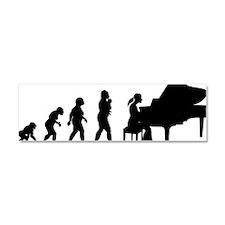 Pianist Car Magnet 10 x 3